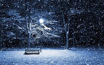 Snow Wallpapers Falling Winter Night Iphone