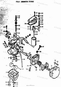 Suzuki Motorcycle 1974 Oem Parts Diagram For Carburetor