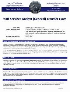 California Staff Services Analyst  General  Transfer Exam