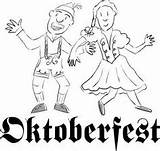 Lederhose Malvorlage Dirndl Oktoberfest Coloring sketch template