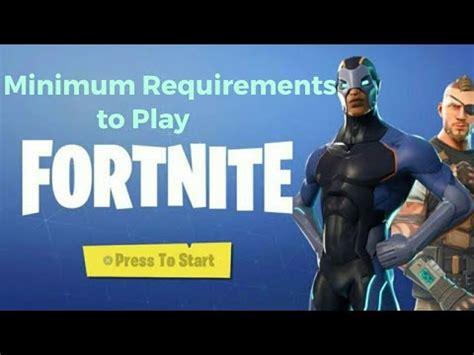 minimum requirements  fortnite mobile pc youtube