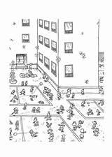 Para Colorear Patio Recreo Dibujo Educima sketch template