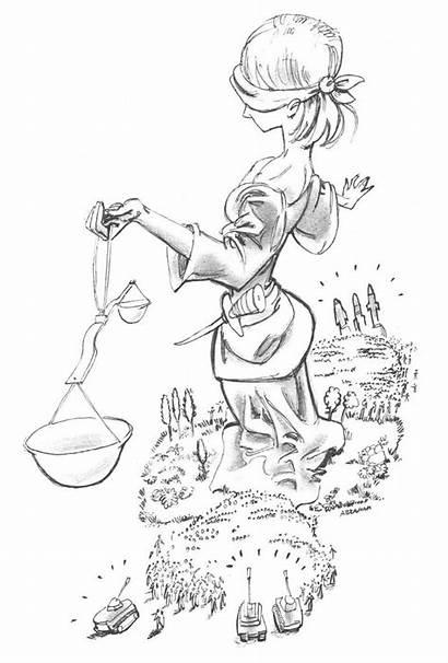 Justice Lady Cartoon