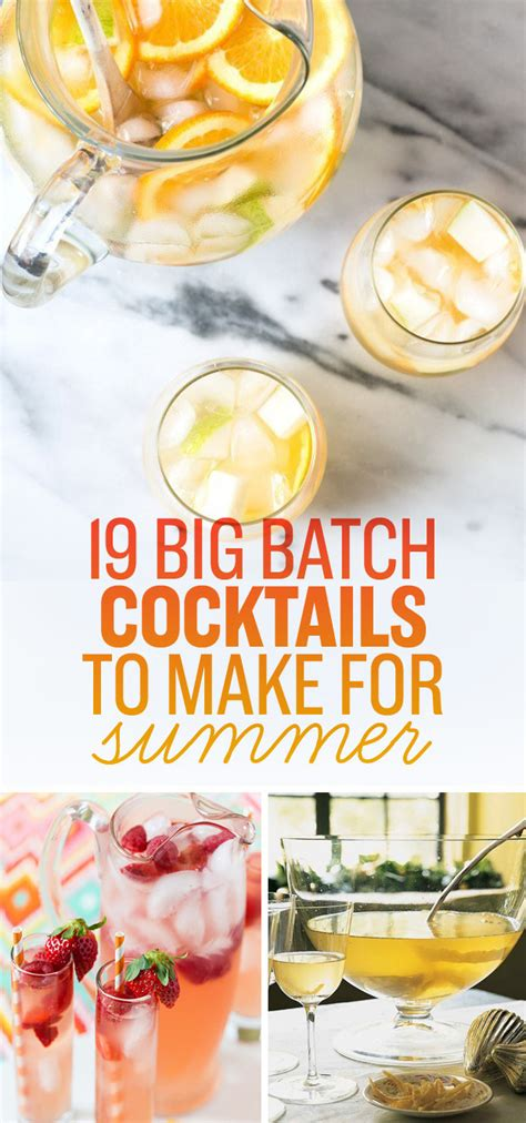 big batch cocktails 19 big batch cocktails to make for summer
