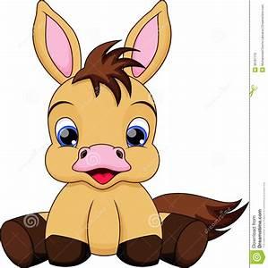 Baby Horse Cartoon Illustration Pony Very Cute | Free ...