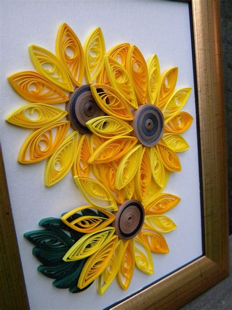 quilled sunflowers  kids    good age