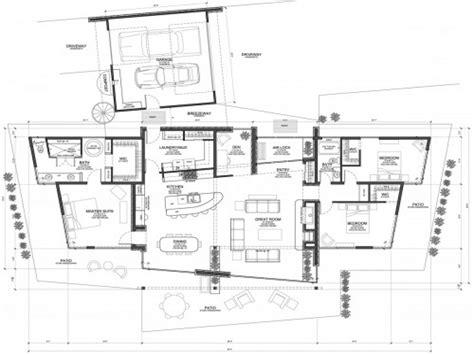 modern floorplans modern house plans concrete