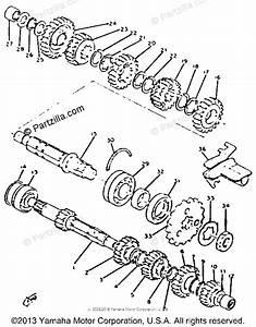 Yamaha Motorcycle 1981 Oem Parts Diagram For Transmission