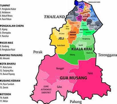 Kelantan Map Assembly Legislative State Before Openclipart