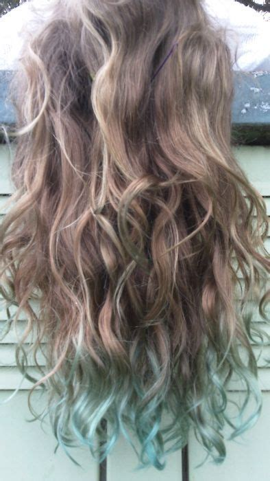 dyed hair ends ideas  pinterest colored hair