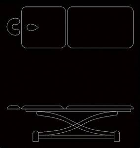 Massage Bed Massage Table DWG Block for AutoCAD • Designs CAD