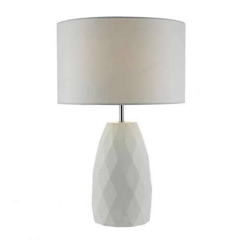 white table l shade white ceramic table l with geometric pattern and white