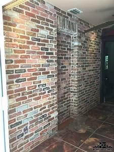 Installing, An, Exposed, Brick, Veneer, Wall, Inside, A, Home, Mortonstones, Brick, Tiles, Rustic