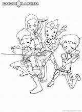 Coloring Code Pages Secret Cartoon Lyoko sketch template
