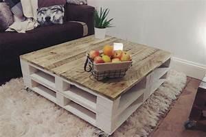 Table En Palette : lemmik xl pallet coffee table in farmhouse style reclaimed ~ Melissatoandfro.com Idées de Décoration