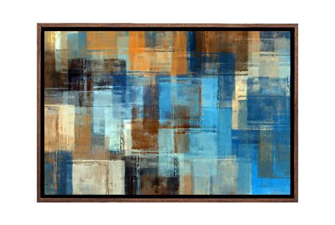 Japanese glass ball fishing float wall décor breakwater bay size: Buy Brown and Blue Abstract   Canvas Wall Art Print Online Australia   Final Touch Decor