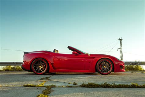 wallpaper ferrari california   largo novitec rosso red