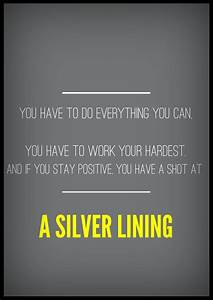 Silver Linings ... Silver Inspirational Quotes