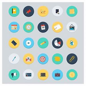 Coloured accounting icons collection Vector | Free Download
