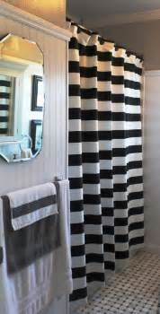 3 quot black and white horizontal stripe shower curtain