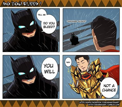 injustice batman vs superman tell me do you bleed know your meme