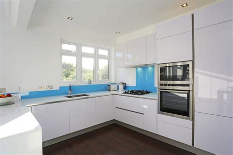 white gloss kitchen cabinets high gloss kitchens from lwk kitchens