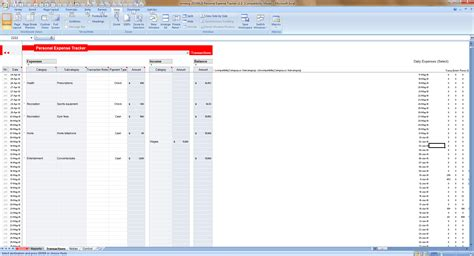 excel personal expense tracker  templates