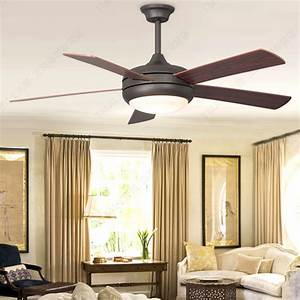 Simple european wood blade ceiling fan light simple for Ceiling fan for living room
