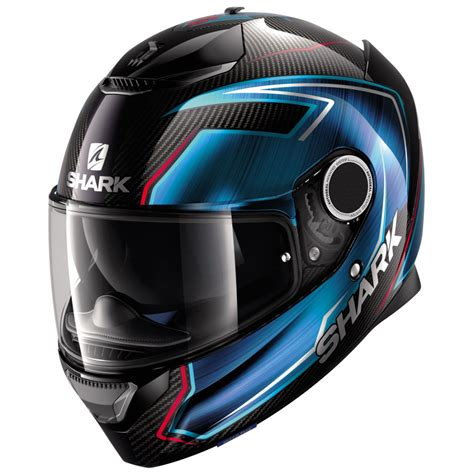 shark spartan carbon shark spartan carbon guintoli carbon chrom blue helmet 183 motocard