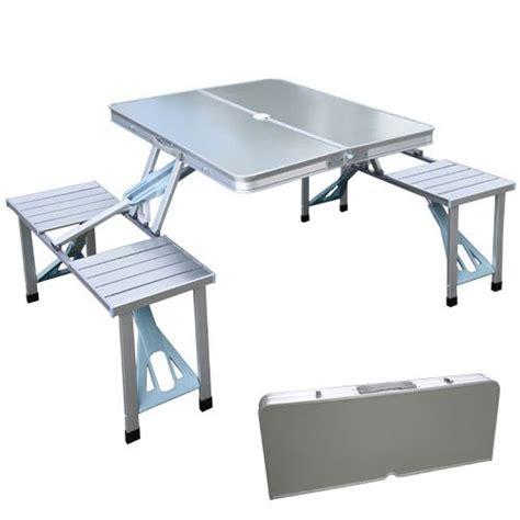 folding table seats 8 xtremepowerus outdoor aluminum portable folding c