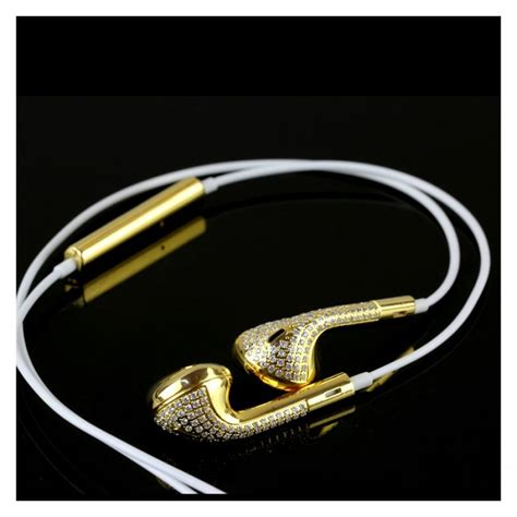 gold iphone headphones iphone 6 6s gold in ear headphone headset