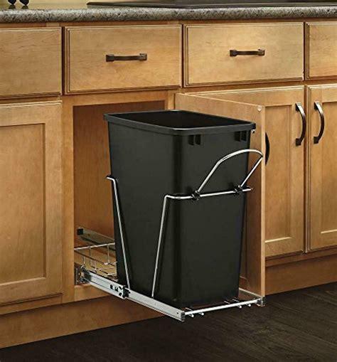kitchen trash can pull out slide sink