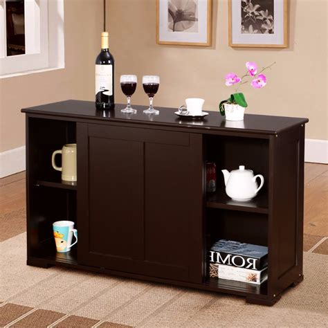 kitchen cabinet door storage goplus home living room storage cabinet sideboard buffet 5316