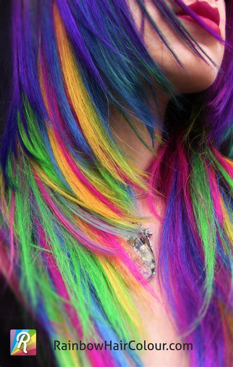 1000 Images About Rainbow Hair On Pinterest Rainbow