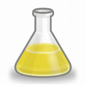 File Conical Flask Yellow Svg