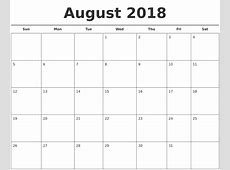 August 2018 Calendar Philippines Calendar Template Printable