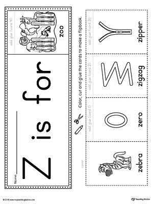 letter  beginning sound flipbook printable preschool
