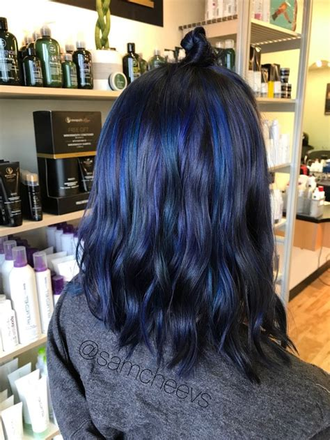 25 Best Ideas About Midnight Blue Hair Dye On Pinterest