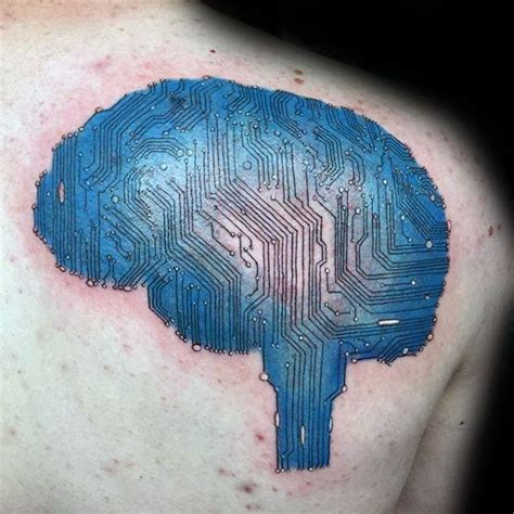 circuit board tattoo designs  men electronic ink ideas