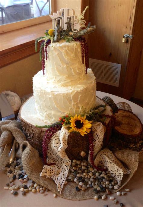 Rustic Wedding Cake Wedding Ideas Pinterest