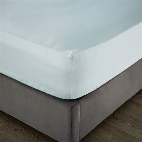 1000tc super king deep fitted sheet duck egg brandalley
