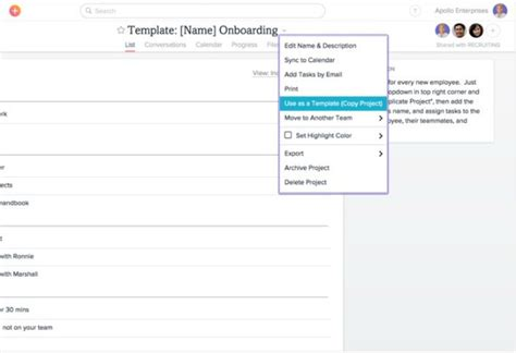 asana templates how to free the power of templates in 7 top productivity tools