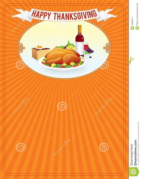 thanksgiving day vertical background template stock