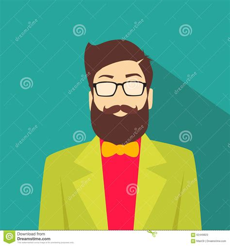 Profile Icon Male Avatar Man Hipster Style Fashion Stock