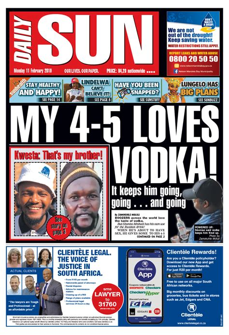 TODAY'S FRONT PAGE!