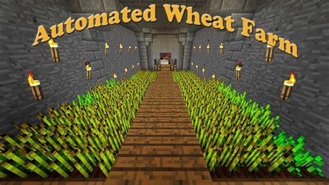 minecraft     automated wheat farm part  youtube