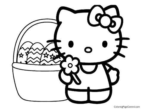 Hello Kitty Coloring Page 10 Coloring Page Central