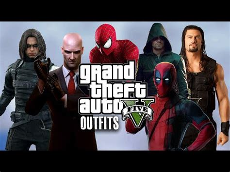 GTA 5 Online - Outfits (BEST Of 2015) - YouTube