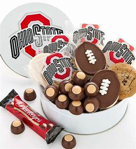 for dad ohio state gift tin cookies and buckeyes With buckeye candy wedding favors