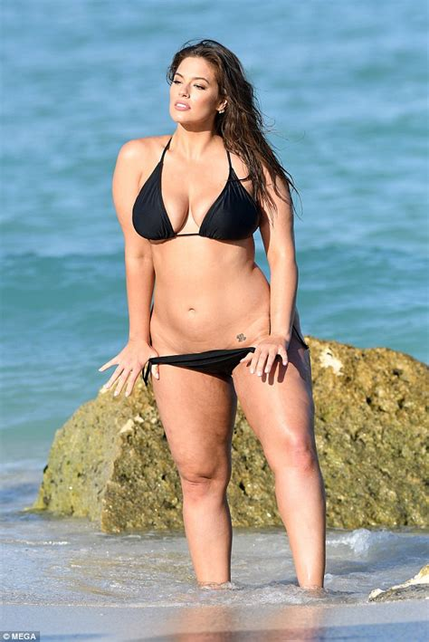 ashley williams swimsuit ashley graham accentuates hourglass curves in black bikini